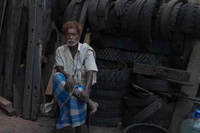 Old man Tyre factory Mumbai